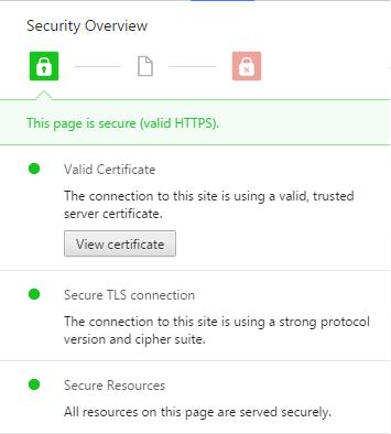Chrome & Let's Encrypt