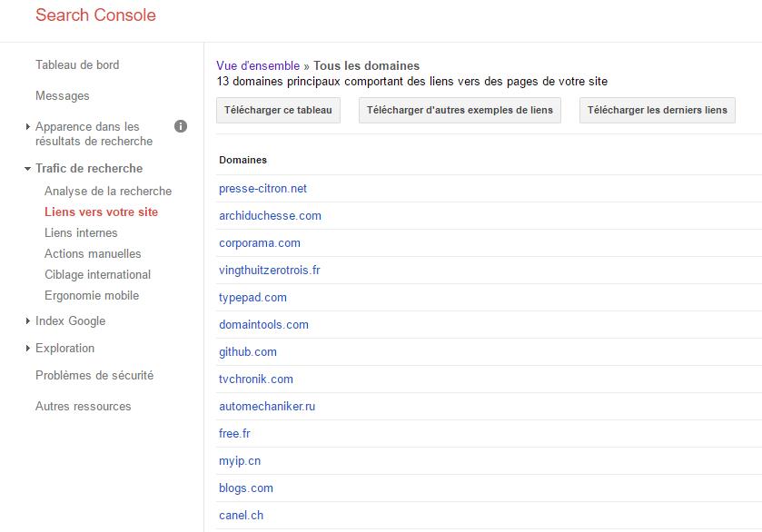 Backlink Google Search Console pour Améliorer le référencement