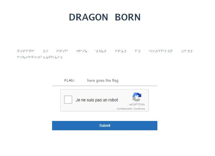 DRAGON BORN du GreHack Challenge 2017