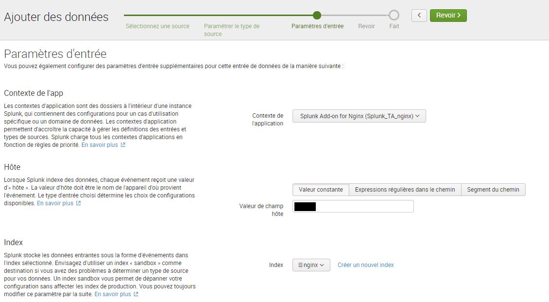 Intégrer des logs Nginx dans Splunk