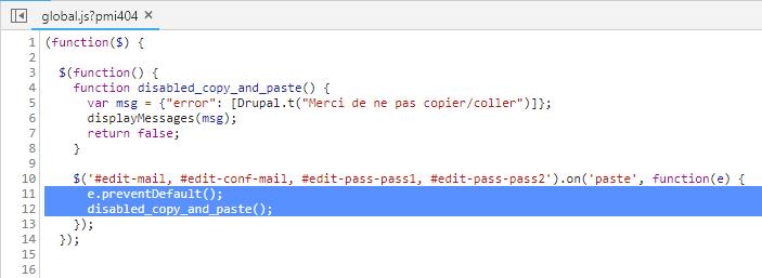 Méchant code