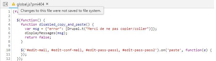 Virer le code qui bloque le copier-coller
